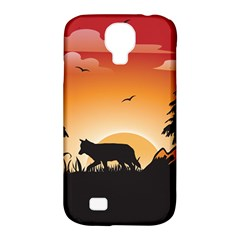 The Lonely Wolf In The Sunset Samsung Galaxy S4 Classic Hardshell Case (PC+Silicone)