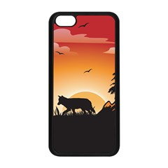 The Lonely Wolf In The Sunset Apple iPhone 5C Seamless Case (Black)