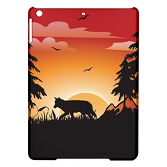 The Lonely Wolf In The Sunset Ipad Air Hardshell Cases