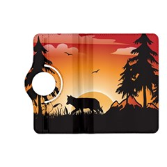 The Lonely Wolf In The Sunset Kindle Fire HD (2013) Flip 360 Case