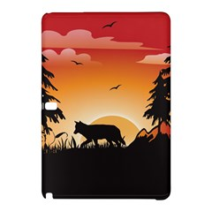 The Lonely Wolf In The Sunset Samsung Galaxy Tab Pro 10.1 Hardshell Case