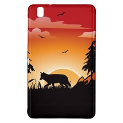 The Lonely Wolf In The Sunset Samsung Galaxy Tab Pro 8.4 Hardshell Case
