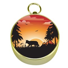 The Lonely Wolf In The Sunset Gold Compasses