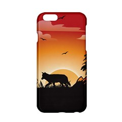 The Lonely Wolf In The Sunset Apple Iphone 6/6s Hardshell Case