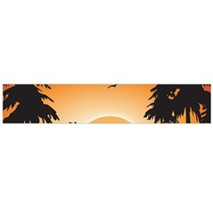 The Lonely Wolf In The Sunset Flano Scarf (large)