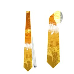 Awesome Sunset Over The Ocean With Ship Neckties (one Side)