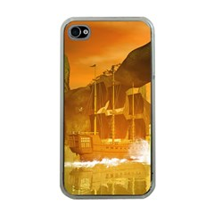 Awesome Sunset Over The Ocean With Ship Apple iPhone 4 Case (Clear)