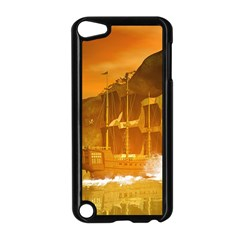 Awesome Sunset Over The Ocean With Ship Apple iPod Touch 5 Case (Black)