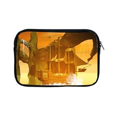 Awesome Sunset Over The Ocean With Ship Apple iPad Mini Zipper Cases