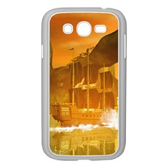 Awesome Sunset Over The Ocean With Ship Samsung Galaxy Grand DUOS I9082 Case (White)