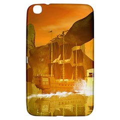 Awesome Sunset Over The Ocean With Ship Samsung Galaxy Tab 3 (8 ) T3100 Hardshell Case