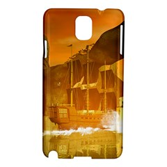 Awesome Sunset Over The Ocean With Ship Samsung Galaxy Note 3 N9005 Hardshell Case