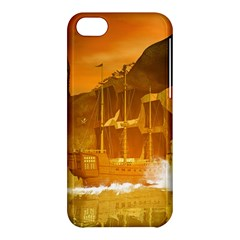 Awesome Sunset Over The Ocean With Ship Apple iPhone 5C Hardshell Case