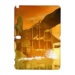 Awesome Sunset Over The Ocean With Ship Samsung Galaxy Note 10.1 (P600) Hardshell Case