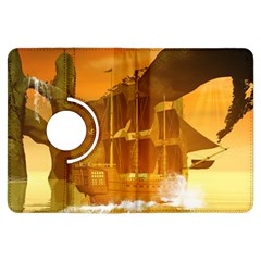 Awesome Sunset Over The Ocean With Ship Kindle Fire Hdx Flip 360 Case