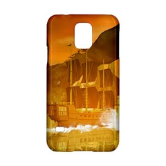 Awesome Sunset Over The Ocean With Ship Samsung Galaxy S5 Hardshell Case