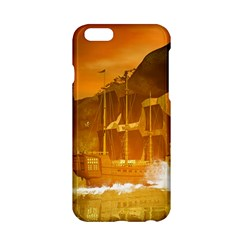Awesome Sunset Over The Ocean With Ship Apple iPhone 6/6S Hardshell Case