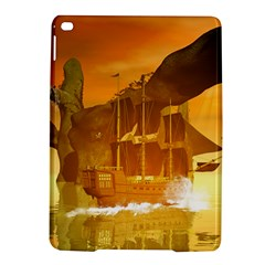 Awesome Sunset Over The Ocean With Ship iPad Air 2 Hardshell Cases