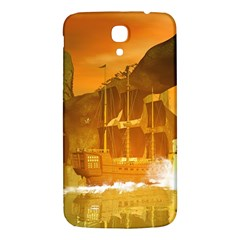 Awesome Sunset Over The Ocean With Ship Samsung Galaxy Mega I9200 Hardshell Back Case