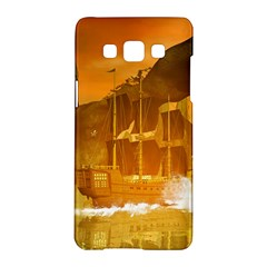 Awesome Sunset Over The Ocean With Ship Samsung Galaxy A5 Hardshell Case