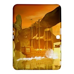 Awesome Sunset Over The Ocean With Ship Samsung Galaxy Tab 4 (10.1 ) Hardshell Case