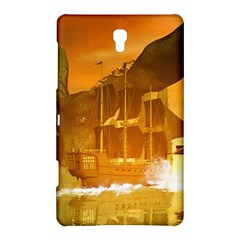 Awesome Sunset Over The Ocean With Ship Samsung Galaxy Tab S (8.4 ) Hardshell Case
