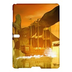 Awesome Sunset Over The Ocean With Ship Samsung Galaxy Tab S (10.5 ) Hardshell Case