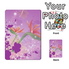 Wonderful Flowers On Soft Purple Background Multi-purpose Cards (Rectangle)