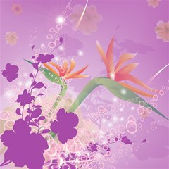Wonderful Flowers On Soft Purple Background Magic Photo Cubes