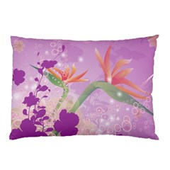 Wonderful Flowers On Soft Purple Background Pillow Cases (Two Sides)