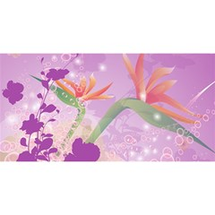 Wonderful Flowers On Soft Purple Background YOU ARE INVITED 3D Greeting Card (8x4)