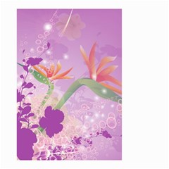 Wonderful Flowers On Soft Purple Background Small Garden Flag (Two Sides)