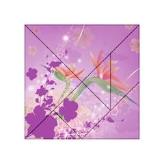 Wonderful Flowers On Soft Purple Background Acrylic Tangram Puzzle (4  x 4 )