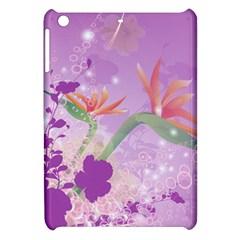 Wonderful Flowers On Soft Purple Background Apple iPad Mini Hardshell Case