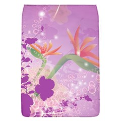 Wonderful Flowers On Soft Purple Background Flap Covers (S)