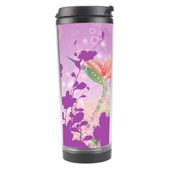 Wonderful Flowers On Soft Purple Background Travel Tumblers