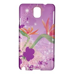 Wonderful Flowers On Soft Purple Background Samsung Galaxy Note 3 N9005 Hardshell Case