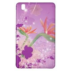 Wonderful Flowers On Soft Purple Background Samsung Galaxy Tab Pro 8.4 Hardshell Case