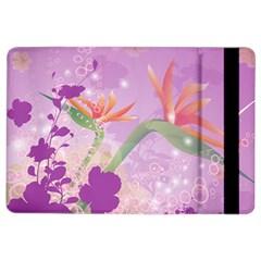 Wonderful Flowers On Soft Purple Background iPad Air 2 Flip