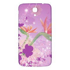 Wonderful Flowers On Soft Purple Background Samsung Galaxy Mega I9200 Hardshell Back Case