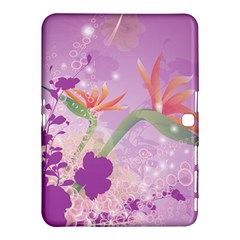 Wonderful Flowers On Soft Purple Background Samsung Galaxy Tab 4 (10.1 ) Hardshell Case