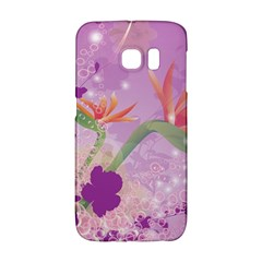 Wonderful Flowers On Soft Purple Background Galaxy S6 Edge