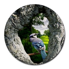 Bird In The Tree 2 Round Mousepads
