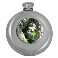 Bird In The Tree 2 Round Hip Flask (5 oz)