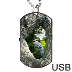 Bird In The Tree 2 Dog Tag USB Flash (Two Sides)