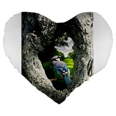 Bird In The Tree 2 Large 19  Premium Heart Shape Cushions