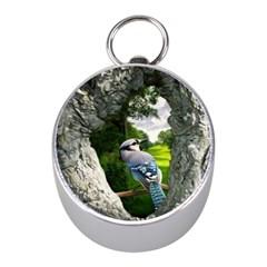 Bird In The Tree 2 Mini Silver Compasses