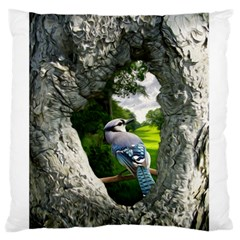 Bird In The Tree 2 Standard Flano Cushion Cases (One Side)