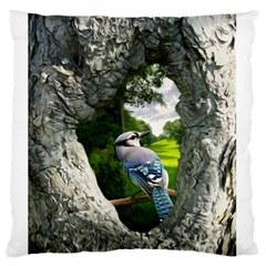 Bird In The Tree 2 Large Flano Cushion Cases (One Side)