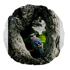 Bird In The Tree 2 Large 18  Premium Flano Round Cushions